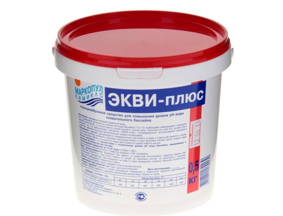 """ЭКВИ-плюс"""". (ведро) 0,5 кг.Средство для регулировки pH """" Маркопул"""