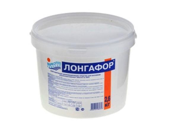 """ЛОНГАФОР"""" табл.200 гр. (ведро) 2,6 кг. Средство для дезинфекции  воды Маркопул"""