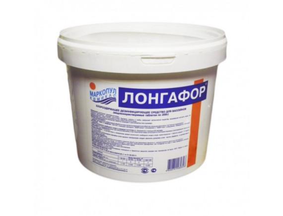 """ЛОНГАФОР"""" табл.200 гр. (ведро) 5 кг. Средство для дезинфекции  воды Маркопул"""