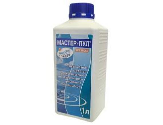МАСТЕР-ПУЛ 4 в 1  (флакон) 1 л.Средство для комплексной обработки воды  Маркопул