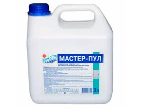 МАСТЕР-ПУЛ 4 в 1  (канистра) 3 л. Средство для комплексной обработки воды  Маркопул