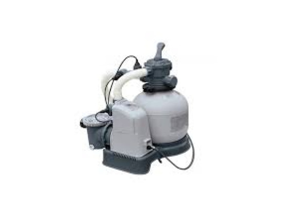 Песочный Фильтр-насос Intex с хлоргенератором, 6000 л/ч, хлорирование 7 гр/ч
