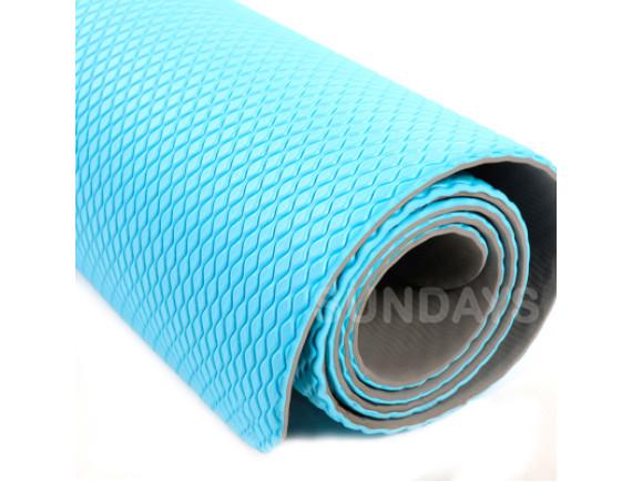 Коврик для йоги и фитнеса Sundays Fitness IRBL17107 голубой