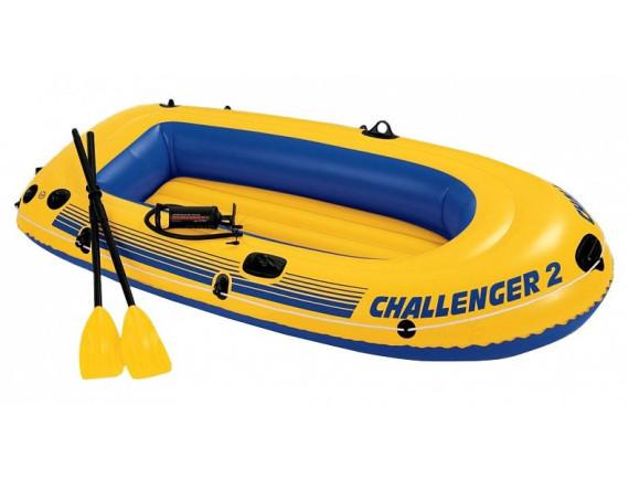 Лодка надувная двухместная Challenger-2 Set 236x114 см Intex