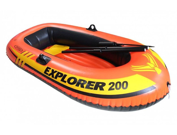 Лодка надувная двухместная Explorer 200 185*94см Intex