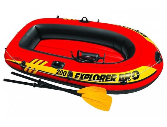 Надувная лодка  двухместная Explorer 200 Set 196х102х33см  Intex