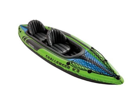 Надувная лодка-каяк Challenger K2 351х76х38 см Intex
