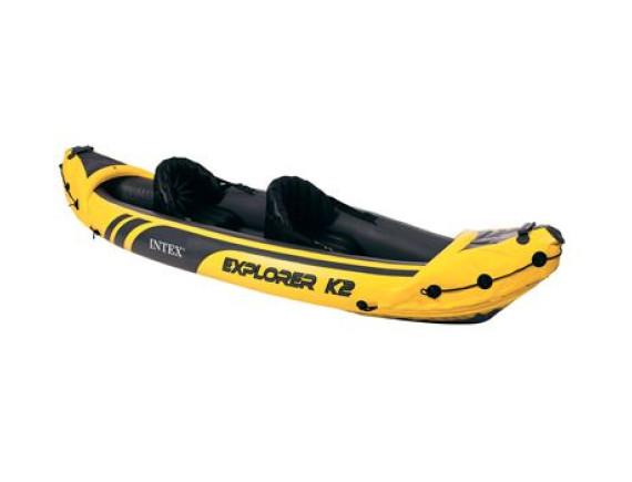 Надувная лодка-каяк Explorer K2 312х91х51см  Intex
