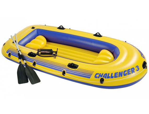Надувная трёхместная лодка Challenger-3 Set  295x137х43см Intex