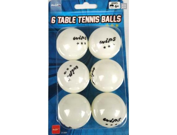 Шарики теннисные (6 шт) 3 звезды