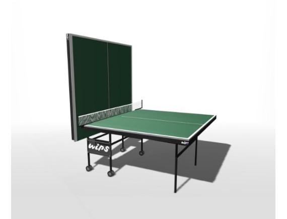 Стол теннисный влагостойкий складной усиленный на роликах WIPS Royal Outdoor
