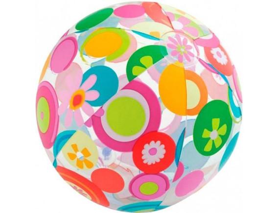 Мяч разноцветный 51см Intex