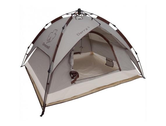 Палатка с автоматическим каркасом GREENELL ДЕРРИ 3, коричневый