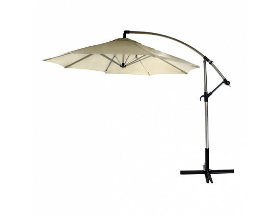 Зонтик от солнца CAPRI, D3m, алюминиевая стойка D60/48mm, 8 ребер: 15x22mm; ткань покрытия: полиэстер; цвет: бежевый 11824
