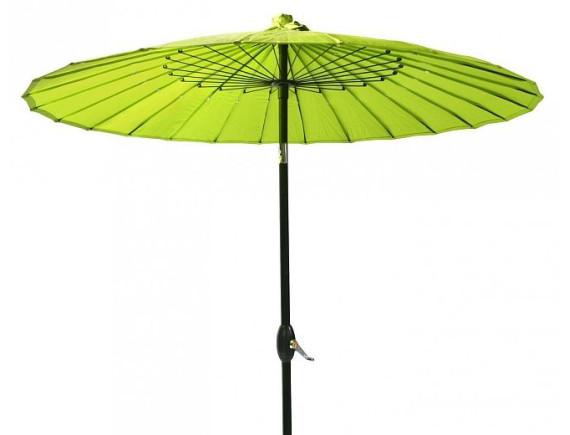 Зонтик от солнца SHANGHAI D2,13m, с коленом для изгиба, алюминиевая стойка D38mm, 24 ребра D4,5mm; ткань покрытия: полиэстер; цвет: зеленый 11810
