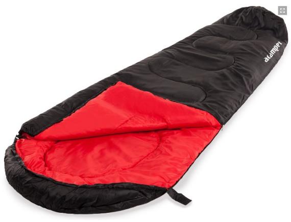Спальный мешок кокон-мумия 150г /м2 ACAMPER, в 3-х расцветках  (чёрный)