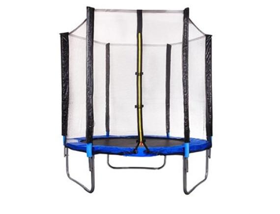 Батут Atlas Sport 140 см - 4.5ft с внешней сеткой (на ремнях) до 35 кг
