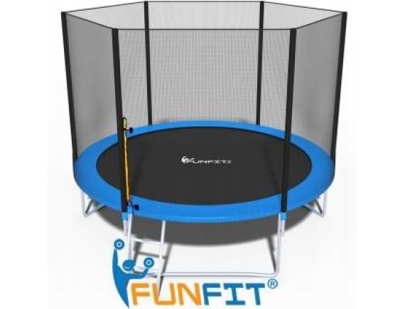 Батут FunFit 312 см - 10ft с сеткой и лестницей