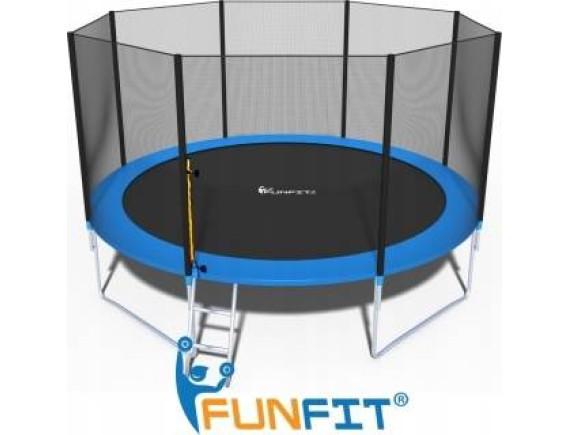Батут FunFit 404 см - 13ft с сеткой и лестницей