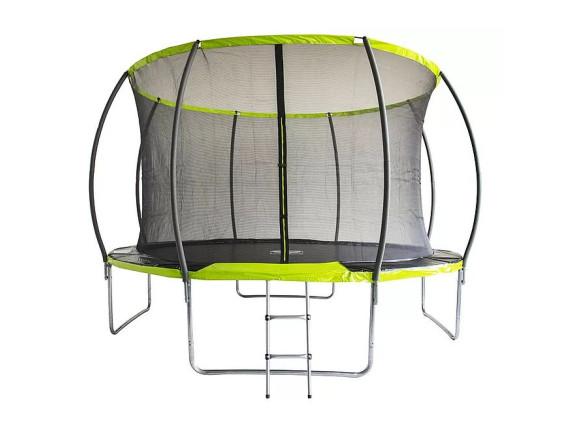 Батут с внутренней сеткой Fitness Trampoline GREEN 12 FT Extreme Inside