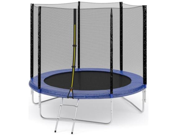 Комплект батут Fitness Trampoline 244 см-8FT-standard с сеткой и лестницей