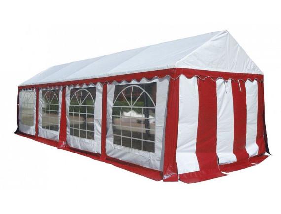3x8м, Р38201R Тент-шатер ПВХ, цвет белый  с красным