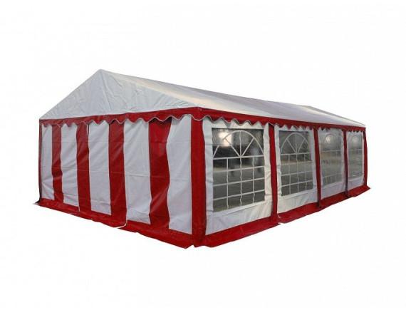 4x8м, P48201R Тент-шатер ПВХ, цвет белый с  красным