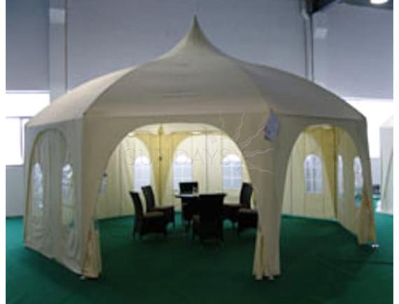 6x6м, P66301, полюсный тент-шатер Sundays, полиэстер с покрытием, бежевый