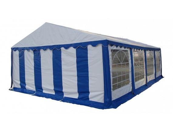 6x8м,68201, тент-шатер ПВХ,  цвет белый с синим