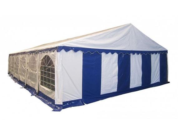 8x12м, 812201, тент-шатер ПВХ, цвет белый с синим