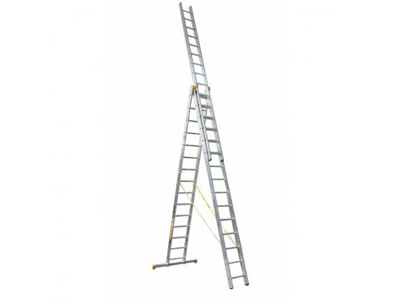Лестница трёхсекционная алюминиевая iTOSS Forte 3х15 (8615)
