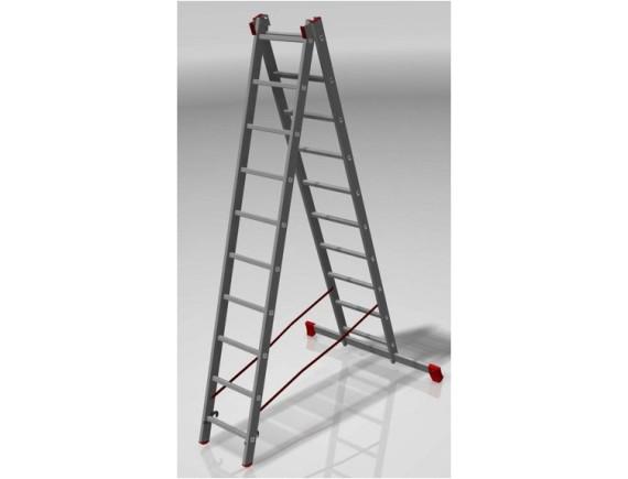 Лестница двухсекционная Новая Высота (2х10 ступеней)