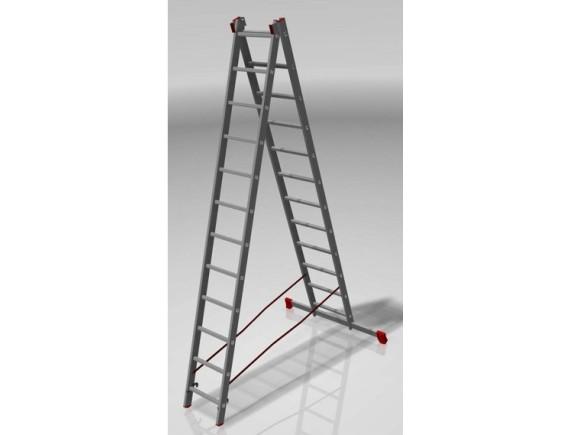 Лестница двухсекционная Новая Высота (2х12 ступеней)
