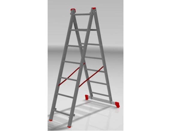 Лестница-стремянка алюминиевая 2-секционная STARTUL PRO (177/318см)