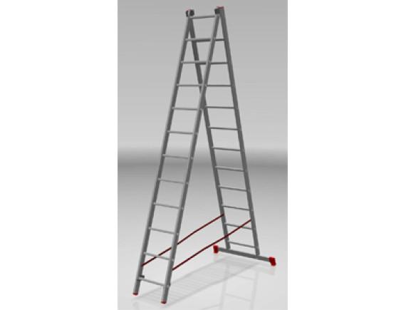 Лестница-стремянка алюминиевая 2-секционная STARTUL PRO (299/550см)