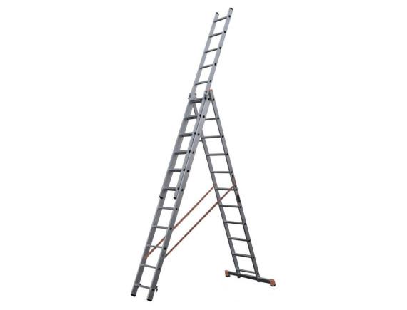 Лестница-стремянка алюминиевая 3-секционная STARTUL PRO (3х10 ступ.)