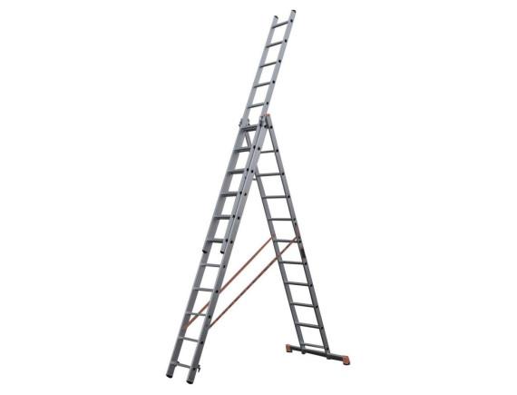 Лестница-стремянка алюминиевая 3-секционная STARTUL PRO (3х12 ступ.)