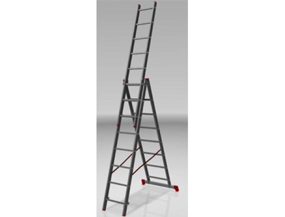 Лестница-стремянка алюминиевая 3-секционная STARTUL PRO (3х8 ступ.)