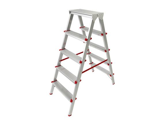 Лестница-стремянка алюминиевая двухсторонняя STARTUL PRO (110 см)