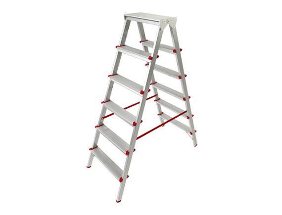 Лестница-стремянка алюминиевая двухсторонняя STARTUL PRO (132 см)