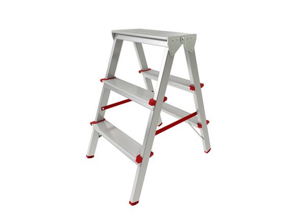 Лестница-стремянка алюминиевая двухсторонняя STARTUL PRO (66 см)