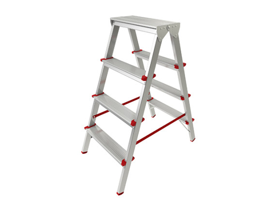 Лестница-стремянка алюминиевая двухсторонняя STARTUL PRO (88 см)