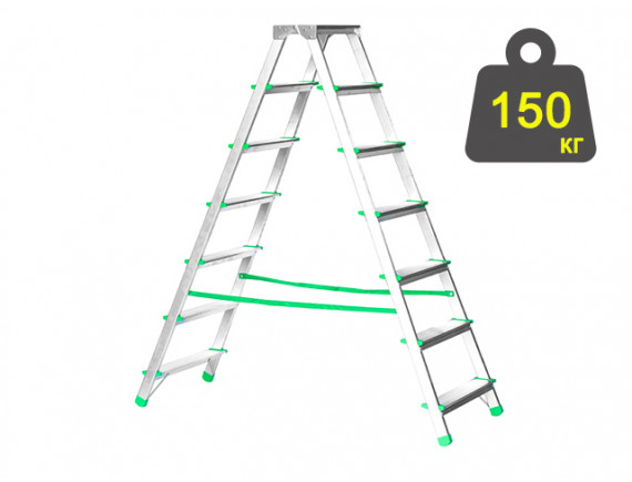 Лестница-стремянка алюминиевая iTOSS Eurostyl 140 см (1927)