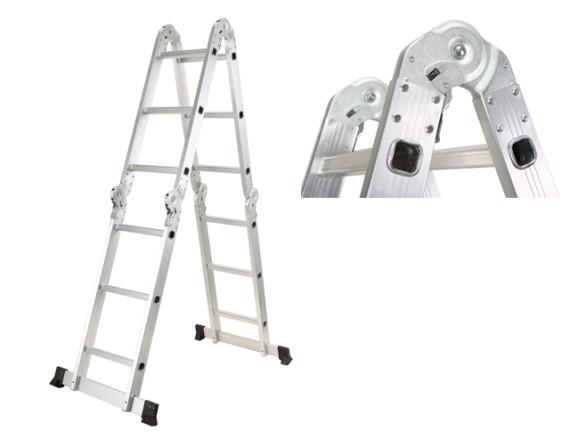 Лестница-стремянка алюминиевая многофункциональная STARTUL (4х3 ступ.)