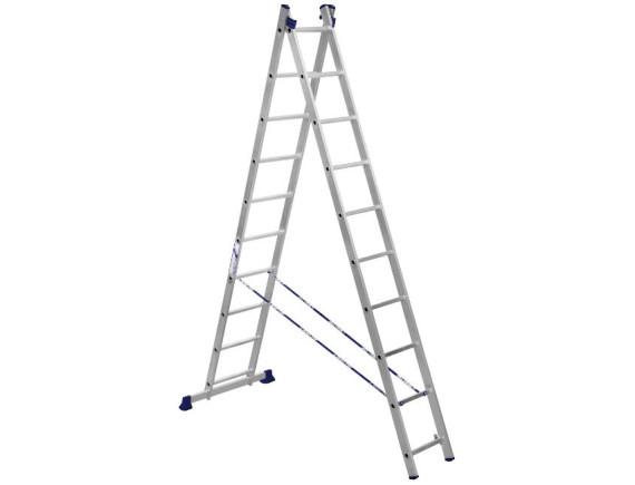 Лестница-стремянка двухсекционная Алюмет 2x10 ступеней (5210)