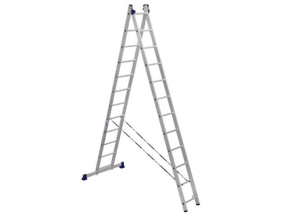 Лестница-стремянка двухсекционная Алюмет 2x12 ступеней (5212)