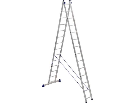 Лестница-стремянка двухсекционная Алюмет 2x14 ступеней (5214)