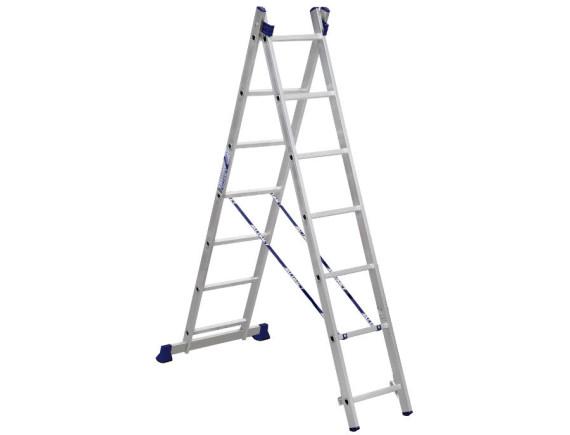 Лестница-стремянка двухсекционная Алюмет 2x7 ступеней (5207)