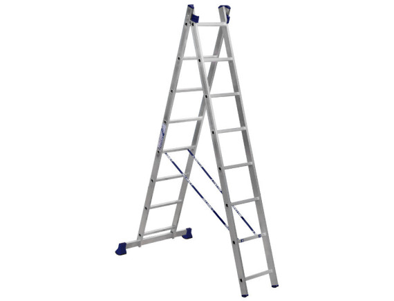 Лестница-стремянка двухсекционная Алюмет 2x8 ступеней (5208)