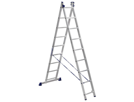 Лестница-стремянка двухсекционная Алюмет 2x9 ступеней (5209)